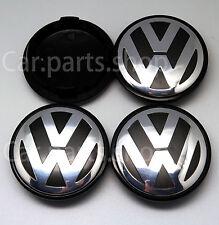 4x 65mm VW Wheel Center Caps Emblem- GOLF PASSAT TOURAN  Cover Hub 3B7 601 171