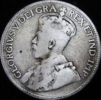1919 VG Canada Silver 25 Cents - KM# 24 - JG