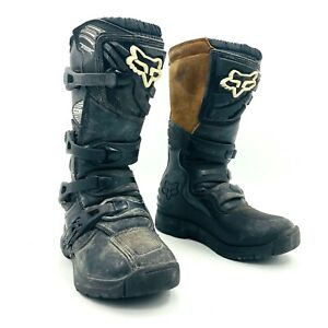 Fox Comp 3 Black Motocross Boots Youth Size 5