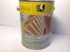 2,5 Liter Acryllack weiss glänzend circumPro Weisslack Holzfarbe 7,98€/L