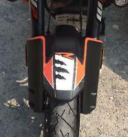 PROTEZIONE PARAFANGO ANTERIORE adesivi 3D compatibili per MOTO KTM 1190R e 1290R