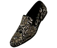 Men's Slippers, Mens Embroidered Loafers, Slip On Shoes, Sequin Shoes