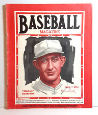 Aug 1929  BASEBALL MAGAZINE- Mickey Cockrane Cover Photo/Walter Johnson (M6189)