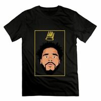 Born Sinner J.Cole Men's T Shirts Rapper Head Print Black