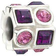 Authentic NEW Chamilia Pink & Purple Circle & Square Bead 2083-0404