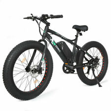 "26"" 500W 36V Black Electric Fat Tire Mountain Snow Bicycle Beach E Bike LCD"