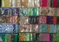 Craft fabric strips scraps Pack remnants patchwork Mix bundles 100% cotton