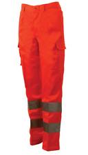 Trousers High Visibility Aid Road Dustmen Fabric Moleskin Bluetech
