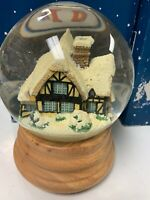 Vtg Lilliput Lane Collectibles Lamplight Candlemaker's Cottage Snow Globe Rare