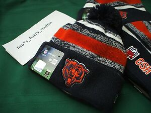 Chicago Bears New Era knit pom hat beanie NEW w/tags RARE NFL OnField Throwback