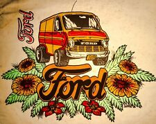 VTG 1973 DS Ford Van 70s vanning E150 E250 Custom Econoline VANS T-shirt iron-on