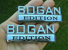 BOGAN EDITION PAIR CAR FENDER BADGES Chrome Metal Emblem *NEW* suit FORD etc