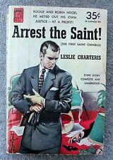 LESLIE CHARTERIS Arrest the Saint SIMON TEMPLAR Permabooks 124 Vintage Paperback