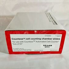 NEW Sealed Box of 50 Invitrogen Countess Cell Counting Chamber Slides C10283