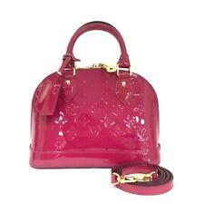 Auth Louis Vuitton Monogram Vernis Alma BB Hand Bag w/Shoulder Strap/40223