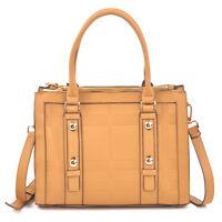 Dasein Women Handbag Faux Leather Shoulder Bag Tote Bag Briefcase Work Purse