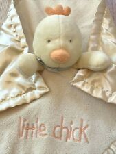 Wishes & Kisses Yellow Little Chick Chicken Rattle Satin Security Blanket Lovey