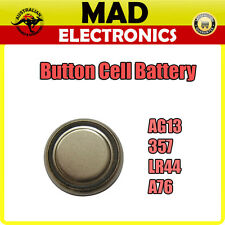 AG13 LR44 A76 357 Button Cell Battery for Watch Thermometer Calculator and More