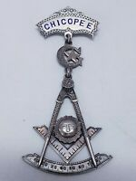 Masonic 1905 Chicopee Mass Award Medal Inscribed With Owners Name & Date Antique