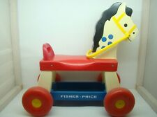 FISHER PRICE - CHEVAL A ROULETTES - TROTTEUR - N° 978 - 1976 - JOUET ANCIEN -