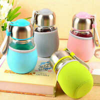 400ml Portable Drink Cup Mug With Tea Filter  Travel Glass Water Bottle