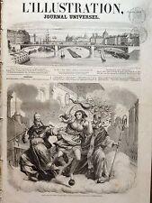 L'ILLUSTRATION 1858 N 775 ALLEGORIE : ENTRE SAINT SYLVESTRE ET SAINT- BASILE