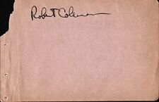 Vintage ROBERT COLEMAN (Stage? Screen?) Autograph - 1928