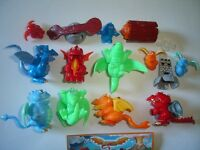 KINDER SURPRISE SET - DRAGONS DRAGONLAND 2007 - FIGURES TOYS COLLECTIBLES