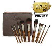 Nanshy 9 Makeup Brush Set Face Lip Eye Cosmetic Bag Quality Cosmetic Brush Kit