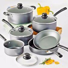 Cookware Set Stainless Steel Nonstick 10 PC Pots N Pans Kitchen Saucepan Skillet