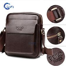 Men's Genuine Vintage Brown Leather Messenger Shoulder Laptop Bag Briefcase POLO