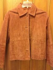 Womens Small (S) Suede Leather Jacket WILSONS Mid-Weight Excellent! Rust Orange