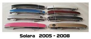 Custom Color & Chrome Door Handle Overlays 2005-2008 Toyota Solara YOU PICK CLR