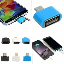 2 Piece Micro USB Mini OTG Cable Add Pendrive Card Reader Mouse to Mobile Tablet
