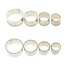 4 pcs Stainless Steel Round Circle Cookie Fondant Cake Mould Cutter Tool Hot BB