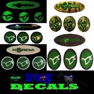 Korda Oval & Dial Decals Set (5 Colours) Delkim Txi Ev & Std Alarms