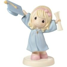 $ New PRECIOUS MOMENTS Porcelain Figurine GIRL GRADUATION Diploma Gown Cap