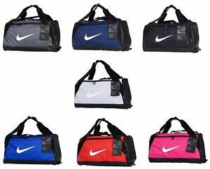 Nike Duffle Sports Team Gym Bag Holdall Travel Kit Bags Small Medium Official