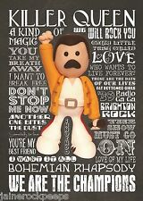 Inspired by Queen Freddie Mercury Greeting Birthday Card