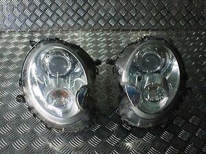 MINI COOPER R56 2006-2010 PAIR OF GENUINE COMPLETE XENON HEADLIGHTS