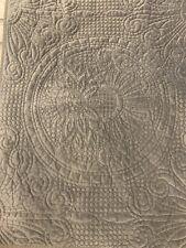 Pottery Barn Flag Stone Gray Velvet Medallion Standard Pillow Cover Sham EUC