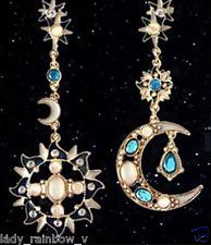 Bohemian Multicolor Luxury Earrings Asymmetric Shape Of The Sun And Moon Long