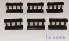 LEGO - 6 x Zaun Spindelzaun Gitter 1x4x2 schwarz / Fence Spindled 30055 NEUWARE