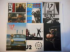 ╬ Port Gratuit ╬ LOT DE 6 CARTES POSTALES : U2 / BONO ♫♫ Card Lot