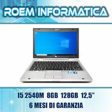 """HP ELITEBOOK 2560P I5 2540M 8 GB 128 GB 12,5"""" WIN 10 GRADO A- 6 MESI DI GARANZIA"""
