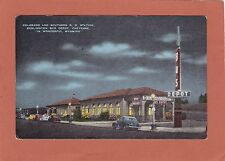 Vintage Night Linen-Cheyenne Wyoming-Colorado&Sout hern R.R. Station-Bus Depot