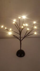 Gold Glitter 40cm Light Up 16 LED Twig Tree HOME PARTY Wedding Table decoration