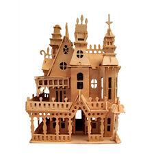 3D Fantasy Villa Doll House Woodcraft Construction Wood Model Puzzle Toys