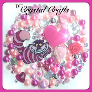 Disney Alice In Wonderland Cheshire Cat Theme Gems & Pearls flatbacks Crafts #4