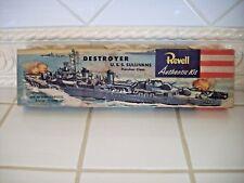 """VINTAGE Revell U.S.S. Sullivans U.S. Navy Destroyer Model Kit """"1954"""""""